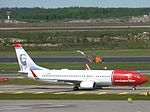 Norwegian Air Shuttle Boeing 737-8JP LN-DYI at HEL 05JUN2015 02.JPG