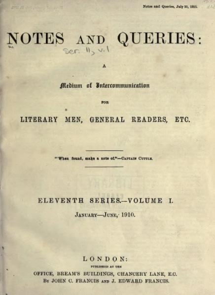 File:Notes and Queries - Series 11 - Volume 1.djvu