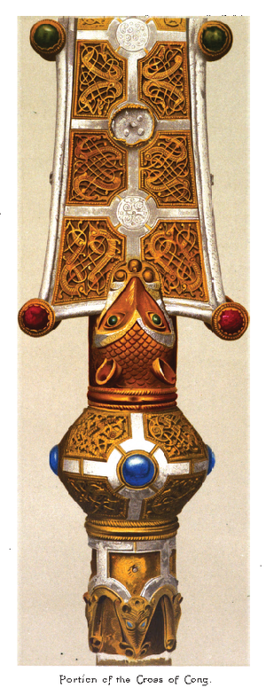 Tairrdelbach Ua Conchobair - The Cross of Cong, a reliquary and processional cross that contains a piece of the True Cross, was commissioned by Toirdelbach and made at Roscommon.
