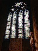 Notre Dame Cathedral- Window of Chapelle Saint-Clotilde by Eugene Viollet-le-Duc.jpg