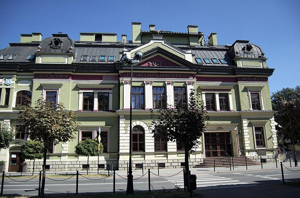 """Nowy Sącz, budynek towarzystwa """"Sokół"""", ob. kino, 1892, XX 10"""