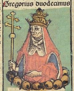 Nuremberg Chronicles f 235v 2 Gregorius XII