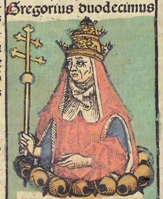Pope Gregory XII - Image: Nuremberg Chronicles f 235v 2 Gregorius XII