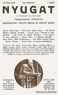 <i>Nyugat</i> Hungarian literary journal