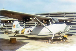South Vietnam Air Force - An O-1A in the flight line