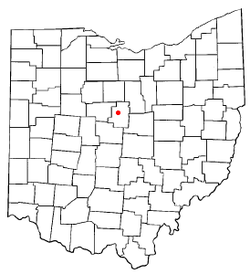 Location of Mount Gilead, Ohio