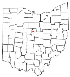 Mount Gilead, Ohio - Image: OH Map doton Mount Gilead