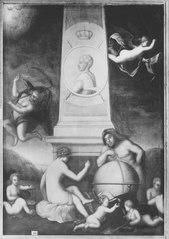 Obelisk med en medaljong av kung Karl XII, 1682-1718
