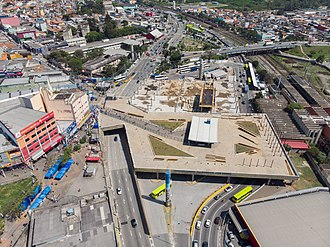 Carapicuíba - Carapicuíba Bus Terminal under construction as of October 2018.
