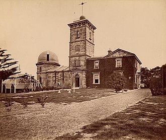 Sydney Observatory - The observatory photographed in 1874