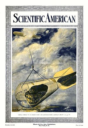 Edgar Franklin Wittmack - Wittmack illustrated a 1916 Scientific American cover with a Zeppelin spy basket.