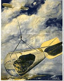 Observatory car suspended from Zeppelin Scientific American 1916-12-23 crop2.jpg