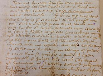 Cotton Mather - Oct. 20th, 1692 CM letter to his uncle