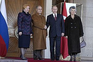 Ahmet Necdet Sezer - Sezer and his spouse (far right) with Vladimir Putin and his spouse