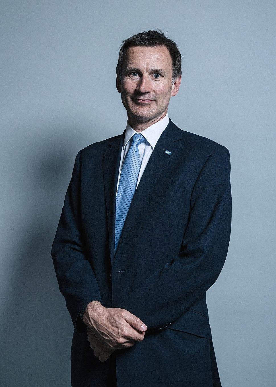 Official portrait of Mr Jeremy Hunt