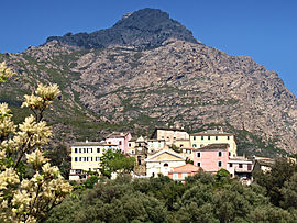 A view of the village of Ogliastro