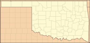 Oklahoma City auf der Karte von Oklahoma