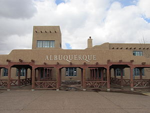 National Register of Historic Places listings in Bernalillo County, New Mexico - Image: Old Albuquerque Municipal Airport Building, Albuquerque NM