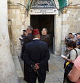 Old Jerusalem Franciscan Procession on Via Dolorosa Ninth Station.jpg