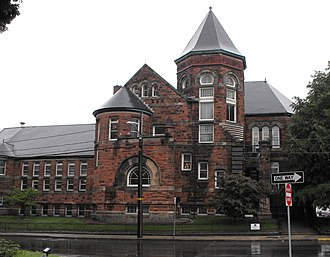 National Register of Historic Places listings in Lawrence, Massachusetts - Image: Old Public Library, Lawrence, MA