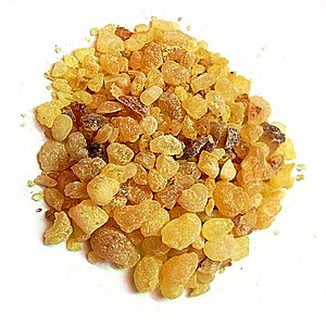 Frankincense olibanum resin