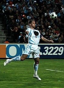 Olympique de Marseille - Association de la Jeunesse auxerroise 2007 2008 Lorik Cana.jpg