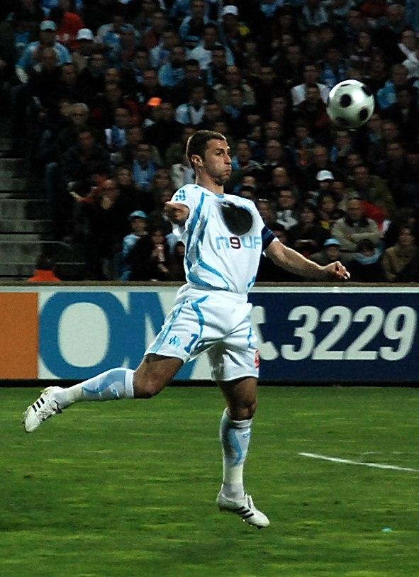 Olympique de Marseille - Association de la Jeunesse auxerroise 2007 2008 Lorik Cana