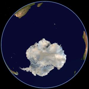 Satellitenfoto Südpol