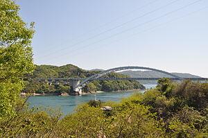 Ōmishima, Ehime - Ōmishima Bridge, leading to Hakata