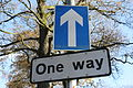 One Way sign, Spa, County Down, November 2010.JPG