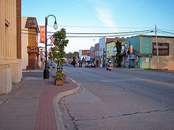River Street in downtown Ontonagon