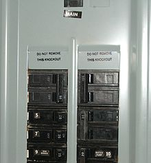 Distribution board wikipedia for Best electrical panel for house