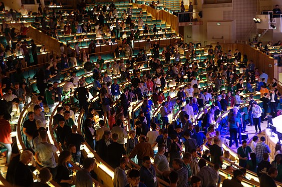 Opening ceremony Wikimania 2019 Stockholm 4.jpg