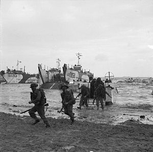 Edwin Bramall - The Normandy landings, in which Bramall took part, during the Second World War.