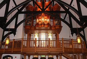 Christ Church Cathedral (Indianapolis) - Organ loft at the west end of the church