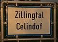Ortstafel Zillingtal-Celindof (III), zweisprachig (Deutsch und Kroatisch).jpg
