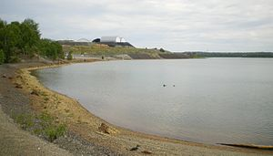 Environmental impact of mining - Contaminated Osisko lake in Rouyn-Noranda