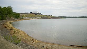Environmental impact of mining - Contaminated Osisko lake in Rouyn-Noranda