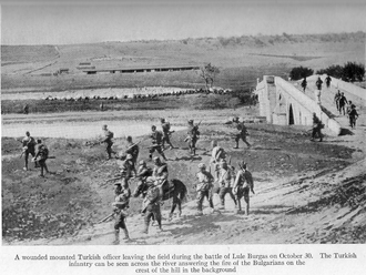 Battle of Lule Burgas - Image: Ottoman troops leaving the field during the battle of Lule Burgas