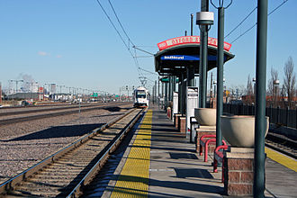Oxford–City of Sheridan station - The Oxford - City of Sheridan station in Sheridan, Colorado.