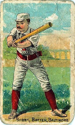 Oyster Burns - Image: Oyster Burns baseball card