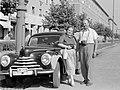 Páros portré 1952, (Sztálinváros), Vasmű (Sztálin) út. Skoda 1101 személygépkocsi. Fortepan 56.jpg