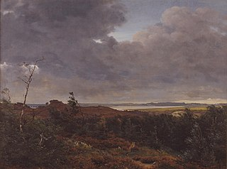 View of Frederiksværk from Tisvilde Wood, North Zealand