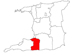 Location of Penal-Debe