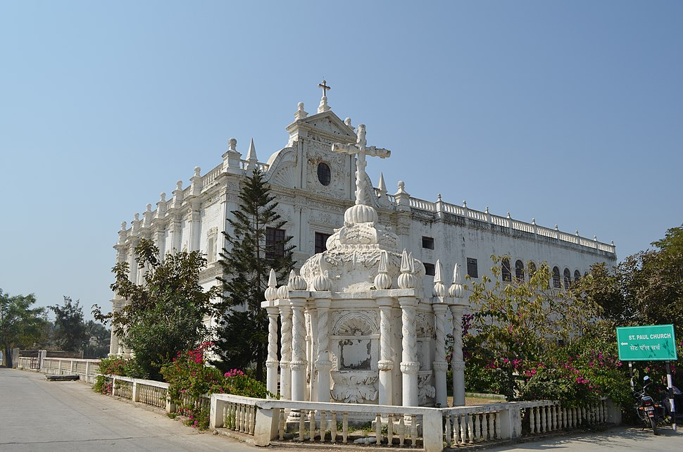 PERSPECTIVE VIEW OF ST.PAUL CHURCH, DIU, INDIA (2012)