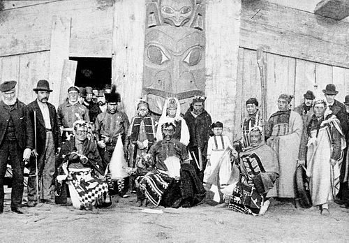 PSM V43 D635 Kwakiool indians of vancouver island at the columbian exhibition.jpg