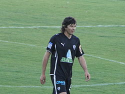 Garcia playing for PAOK in 2010