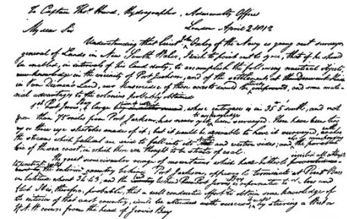 Page 516 letter (The Life of Matthew Flinders).jpg