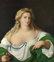 Palma Vecchio: A Blonde Woman