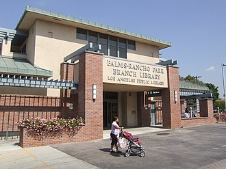 Rancho Park, Los Angeles - Palms-Rancho Park branch library in Los Angeles (California) Public Library system